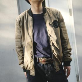 【时尚有型】棒球领休闲夹克外套