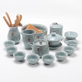 永利汇哥窑茶具功夫茶具套装整套复古创意禅茶一味