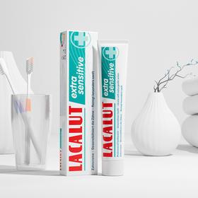 【年销量5000万支  德国药企研发】德国乐卡露LACALUT牙膏  清洁口腔 清新口气  双重呵护牙龈 保护牙釉质