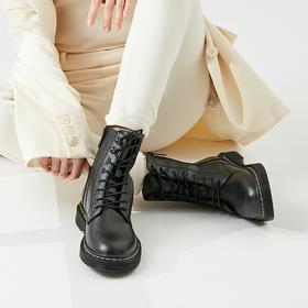 Rockfish 2020秋季新款小黑鱼登山扣马丁靴