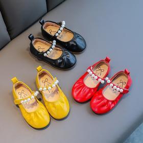 【寒冰紫雨】   儿童鞋女童皮鞋春秋新款 软底小单鞋秋鞋宝宝公主鞋 黑色   CCCET9002
