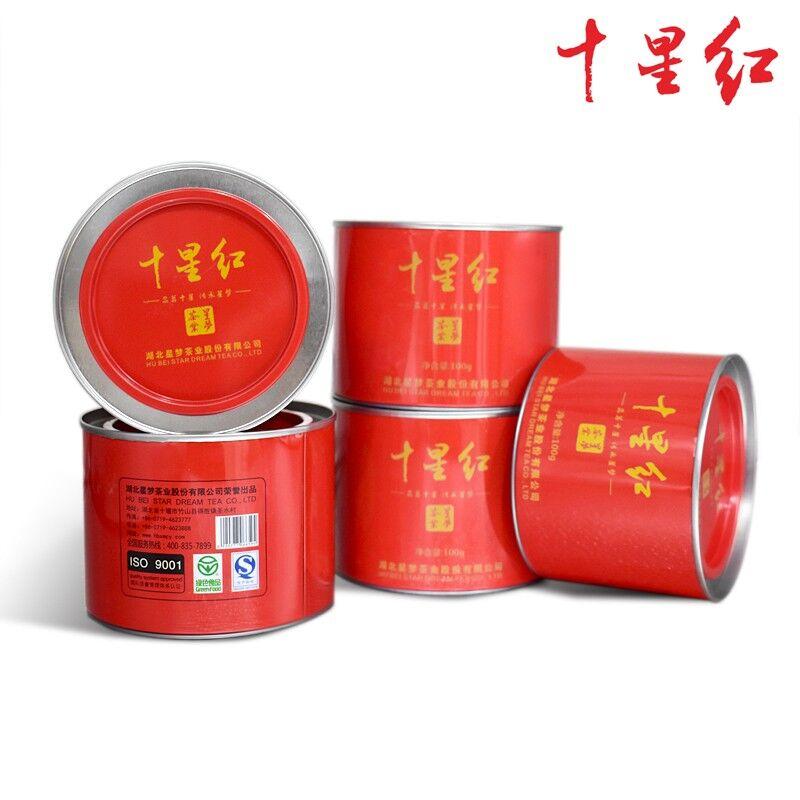 【竹山特产】十星红红茶星梦茶叶圆铁罐100g*5礼品茶 商品图0