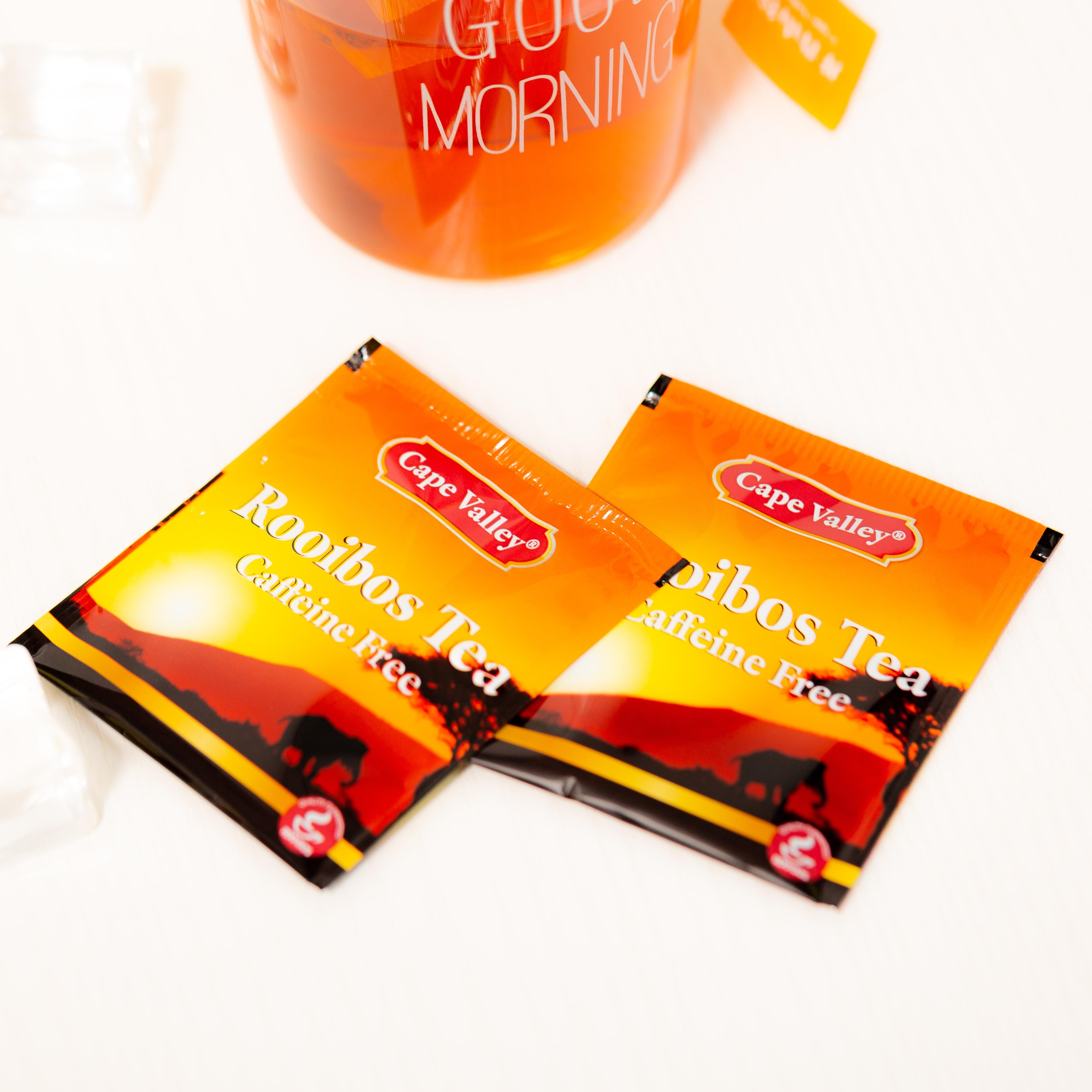 「可以喝的神仙水」开普山谷南非博士茶 Rooibos路易波士国宝红茶无咖啡因 美容养颜  0卡路里 无糖分  孕妇可喝100袋/盒 商品图8
