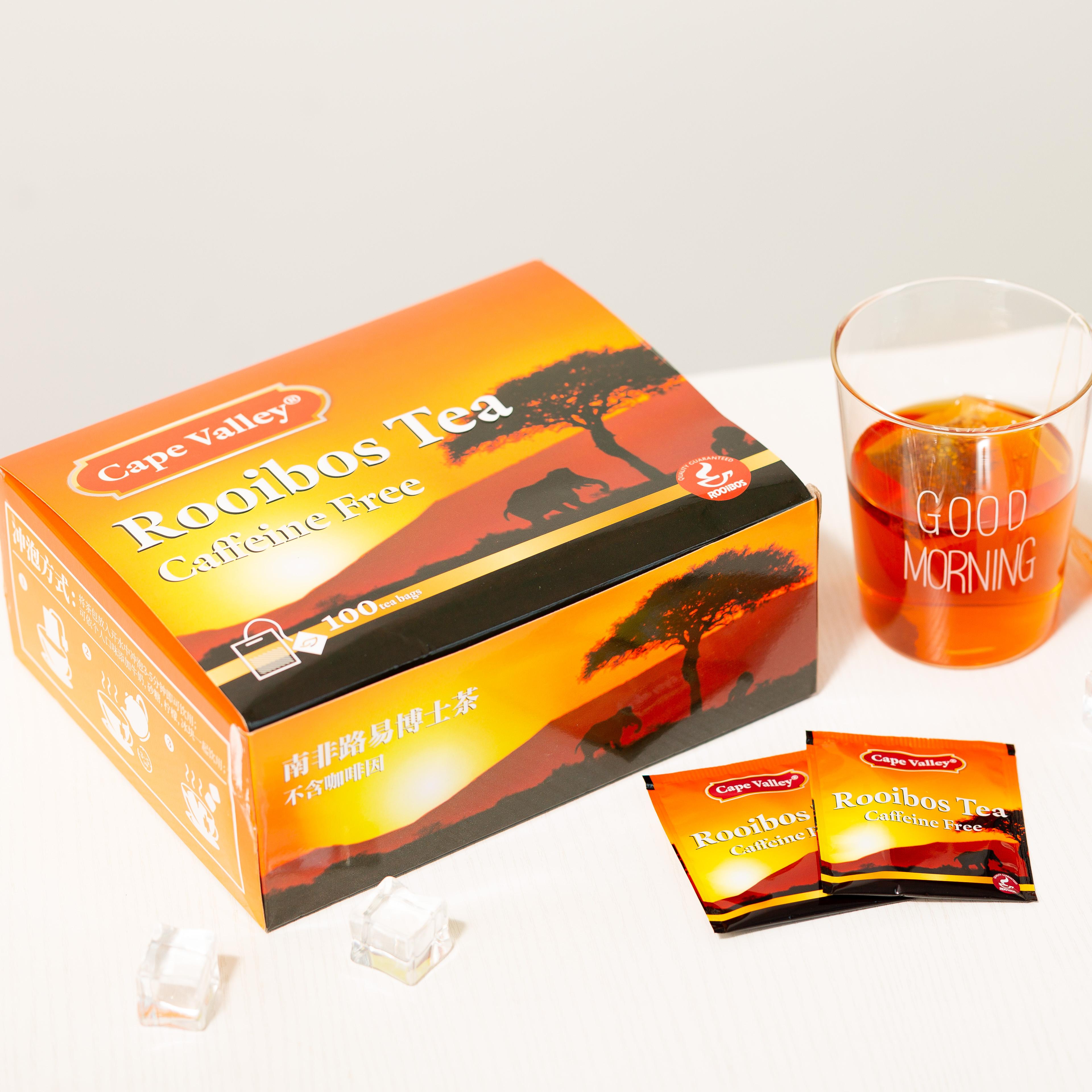 「可以喝的神仙水」开普山谷南非博士茶 Rooibos路易波士国宝红茶无咖啡因 美容养颜  0卡路里 无糖分  孕妇可喝100袋/盒 商品图0