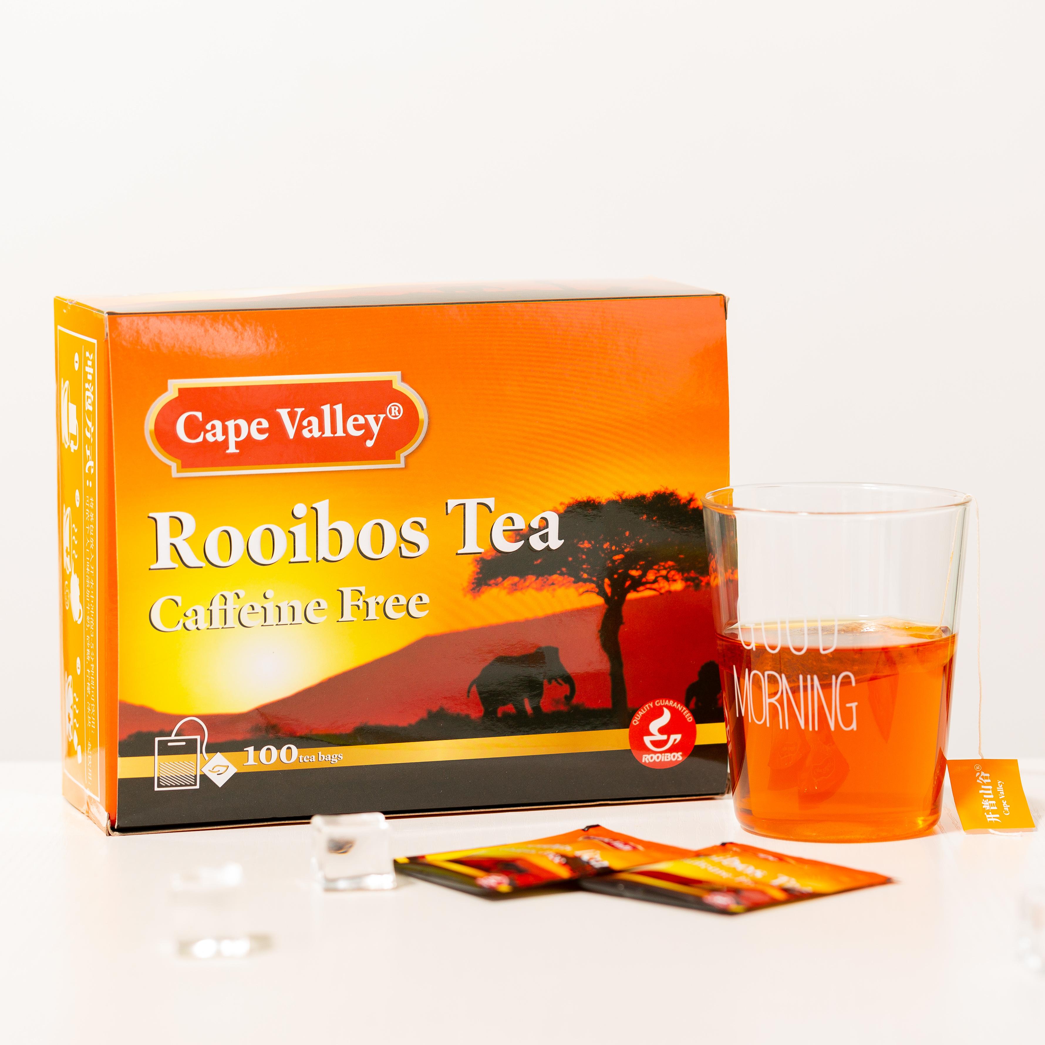 「可以喝的神仙水」开普山谷南非博士茶 Rooibos路易波士国宝红茶无咖啡因 美容养颜  0卡路里 无糖分  孕妇可喝100袋/盒 商品图12