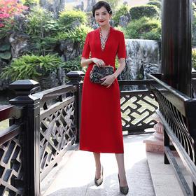 【清仓特价 不退不换】DLQ2008A新款红色名媛气质晚礼服