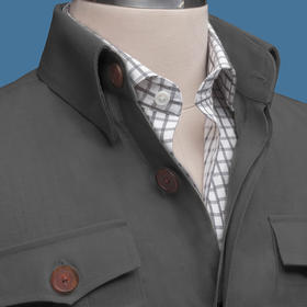 男士亚麻/全棉猎装夹克-升级款/老款