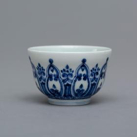 永乐青花明轮纹茶杯