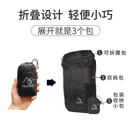 【一款包的价格,到手3款不同的包】美国ARKADIA防水耐磨可拆卸双肩背包 商品图3