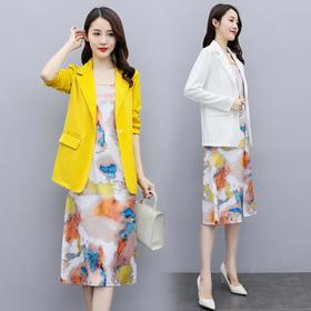 CQ-QY20822秋季外套+吊带裙两件套TZF