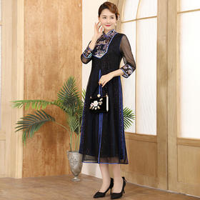 DLQ-A2698新款轻奢名媛气质中国风连衣裙TZF
