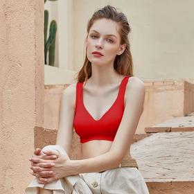 我的花匠 好运中国红 A类 舒适无痕V+美背款内衣 转运 好搭