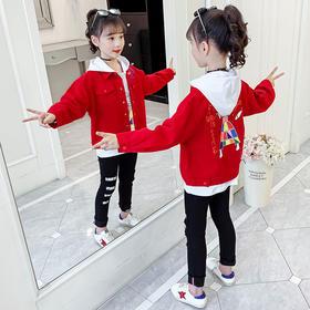 KYM-DM-82165秋装新款小女孩时髦三件套TZF