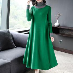 AHM-ym5565新款时尚气质优雅显瘦复古休闲纯色裙TZF