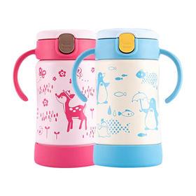 2020款 Richell利其尔 新品儿童不锈钢吸管保温杯  300ml  5色可选