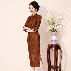 QQ9298新款蕾丝高端品质旗袍TZF