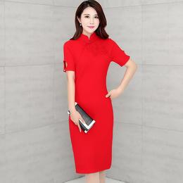 【特价清仓,只为回馈老顾客】QKC1616-1秋季中国风复古针织旗袍TZF