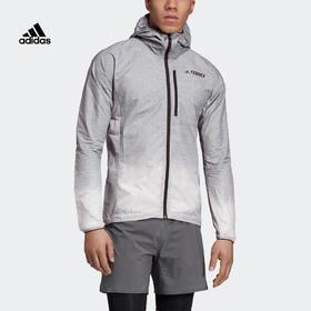 【特价】Adidas阿迪达斯 Agr Windweave J 男款户外运动连帽夹克外套