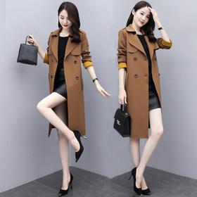 PDD-女式高档风衣女中长款英伦风大衣2020春秋装新款韩版气质洋气外套