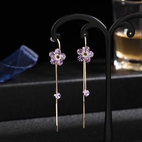 LYSP-A-058新款紫色流苏耳环TZF