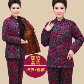 MQ-XDB202冬装新款宽松保暖棉衣棉裤两件套YY
