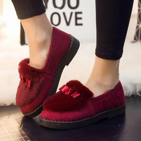 【清仓特价 不退不换】MBXY-E01新款低帮防滑保暖加绒豆豆鞋TZF