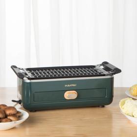 海牌电烧烤炉   不用明火油烟少,在家就能快乐烧烤!