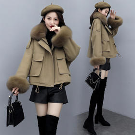 CQ-BX1201新款保暖短款长袖气质百搭棉服TZF