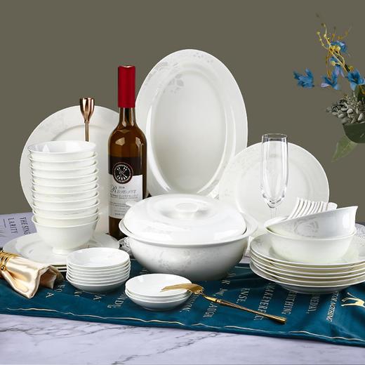 陶溪川 家用餐具套装 白玫瑰 3款配置可选 商品图0