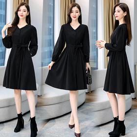 WZNH-HMQY8896时尚减龄通勒百搭街头甜美风衣连衣裙