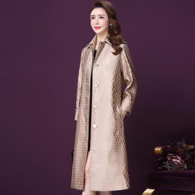 WXY-W-YH-F341W秋冬新款法式中长款气质阔太太收腰显瘦风衣外套