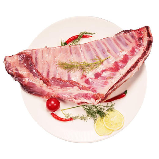 内蒙 内蒙古草原新鲜  羔羊肋排  1.2kg~1.3kg 商品图0