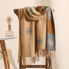 RB-SMPGY冬季百搭蒲公英羊绒双面围巾