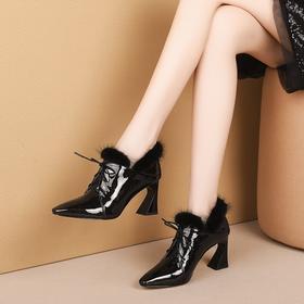 OLD-H2035新款漆皮高跟百搭真皮鞋