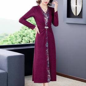 AHM-yqwl6608新款显瘦收腰优雅气质连衣裙TZF