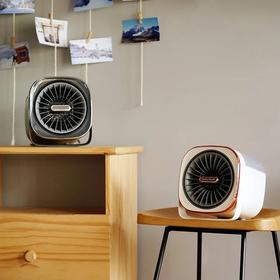 摩飞冷暖风机MR2020冷暖两用家用室内加湿取暖器小型桌面冷风机