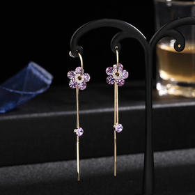LYSP-A-058新款紫色流苏耳环