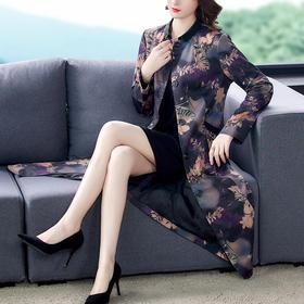 AHM-yslg8373新款宽松休闲印花裙