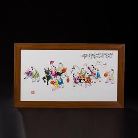 十二童子瓷板