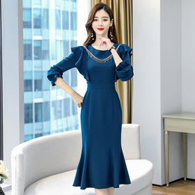 HRFS-AYD80911秋装女神范温柔风长裙TZF