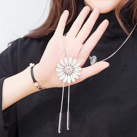 【清仓特价 不退不换】YWHJ2016sj邹菊造型长款水晶项链毛衣挂件TZF