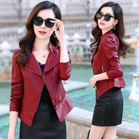 CQ-YBX972秋季个性潮流时尚皮衣TZF