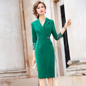 FMY-FX9QL26984气质修身显瘦通勤中长款OL职业裙子