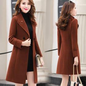 PDD-【特价清货】呢子大衣女中长款秋冬款韩版时尚修身妮子毛呢外套