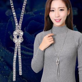 SJ-2016百搭镂空长款装饰毛衣链TZF