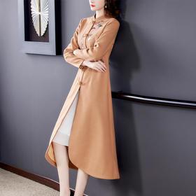 AHM-yslg8376显瘦修身刺绣复古大衣