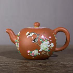 江窑鸟壶(花盖)