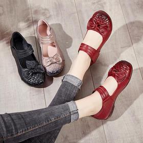 MLD-5018女鞋妈妈鞋单鞋民族风手工编织软底跳舞女鞋