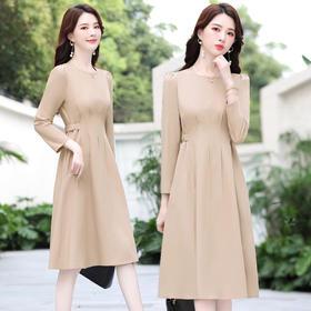 CQ-YIXG8076新款简约气质圆领舒适连衣裙TZF