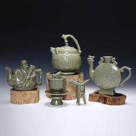 耀州窑单色釉瓷(套)